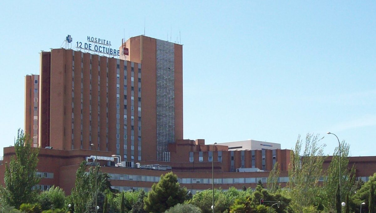 HOSPITAL 12 DE OCTUBRE in Usera district in Madrid (Spain).