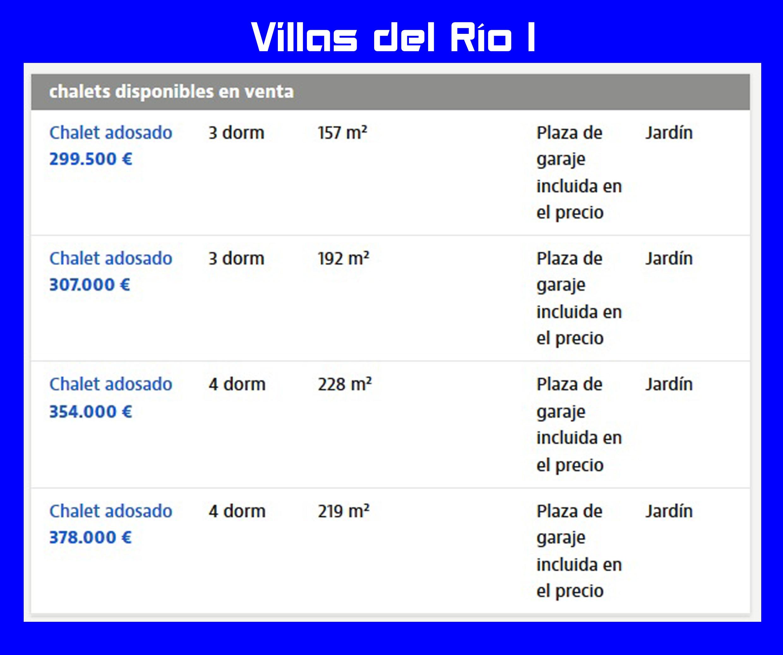Villas del Río I - Chalets disponibles