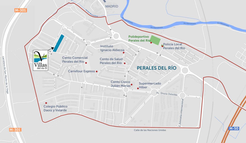plano de situacion villas del río II
